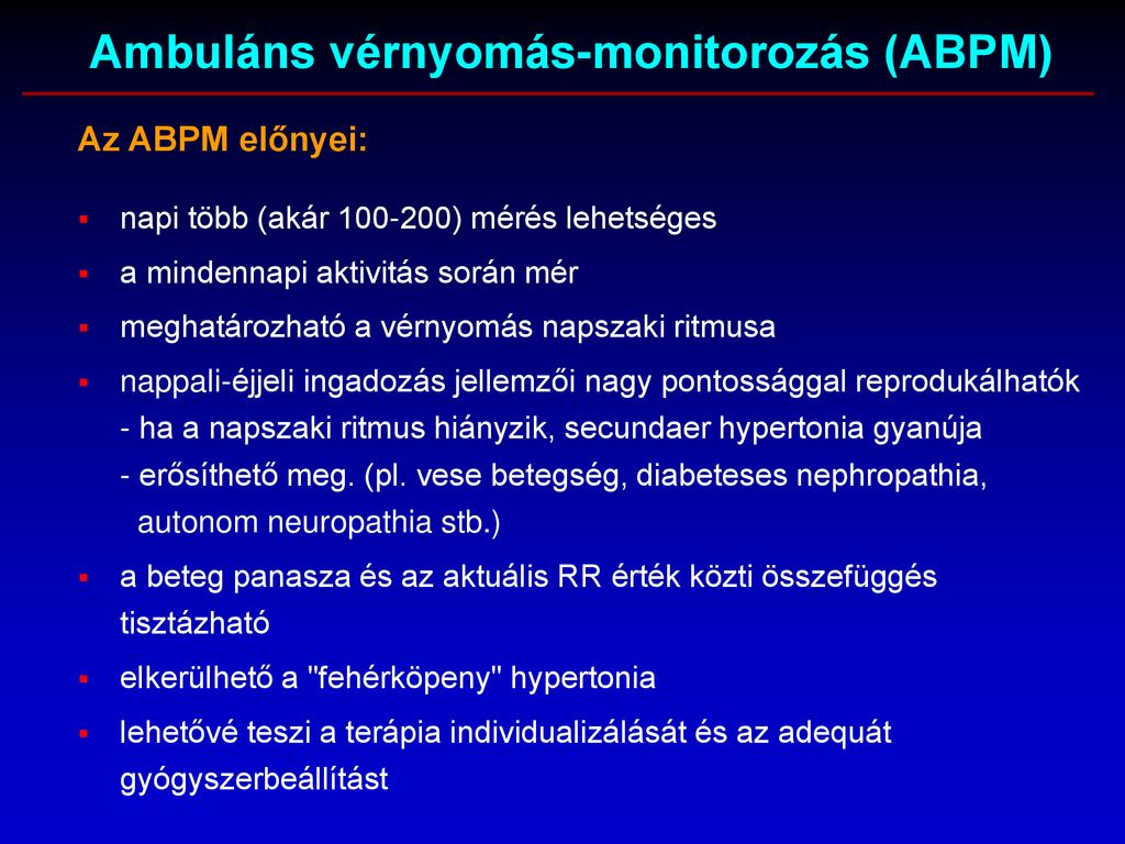 a hipertónia ambuláns regisztrációja