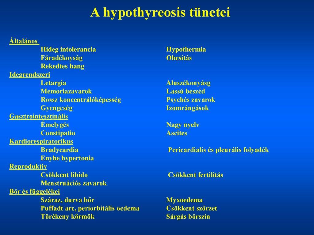 szubklinikai hypothyreosis és hipertónia tornaterem edzés magas vérnyomás ellen