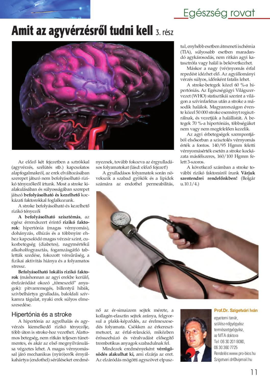 magas vérnyomás agyi anyag hipertónia létezik