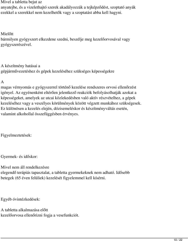 a magas vérnyomás karvedilollal történő kezelése)