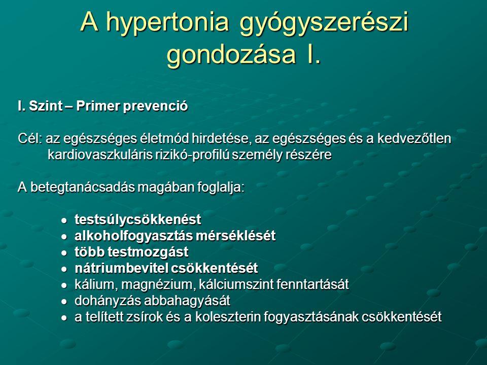 hipertónia kezelésének módja 1 fok