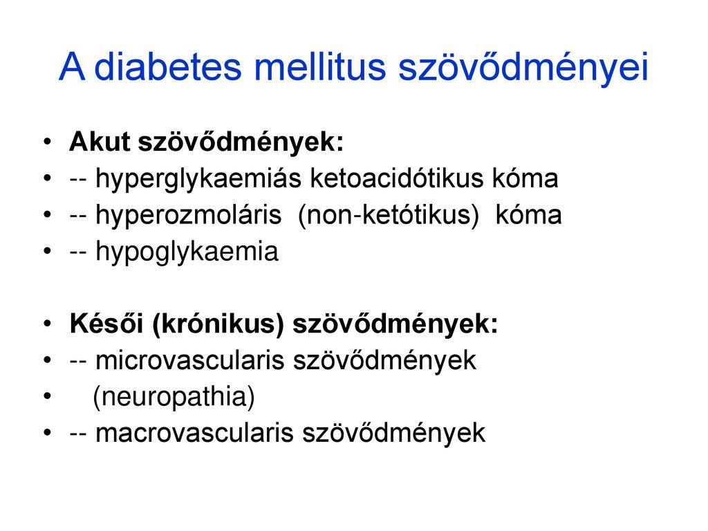 A cukorbetegség szív- és érrendszeri szövődményei