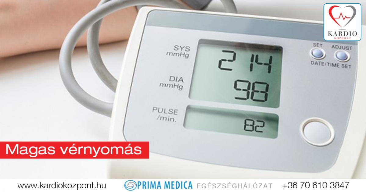 vérvizsgálat amely magas vérnyomással jár