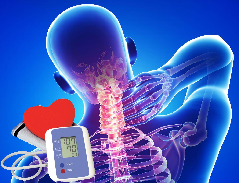 a mellkasi gerinc osteochondrosis és a magas vérnyomás)