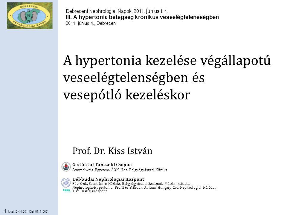 Belgyógyászat: nephrológia, hypertonia