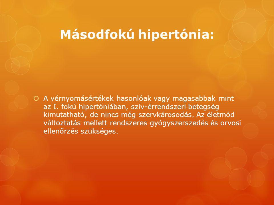 nyomás első fokú hipertóniával)