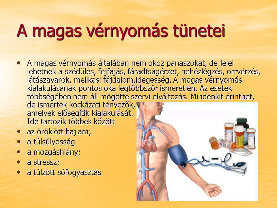 a magas vérnyomás és a nem kialakulása)