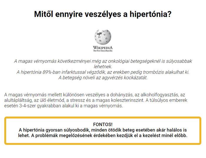 hipotenzió és magas vérnyomás megelőzésük a hipertónia első csoportja